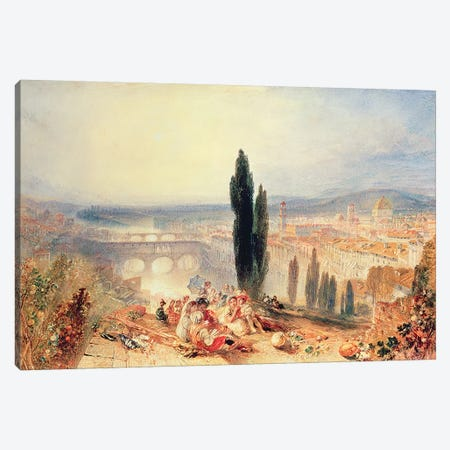 Florence from near San Miniato, 1828 Canvas Print #BMN529} by J.M.W. Turner Canvas Print
