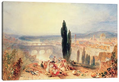 Florence from near San Miniato, 1828 by J.M.W Turner Canvas Print