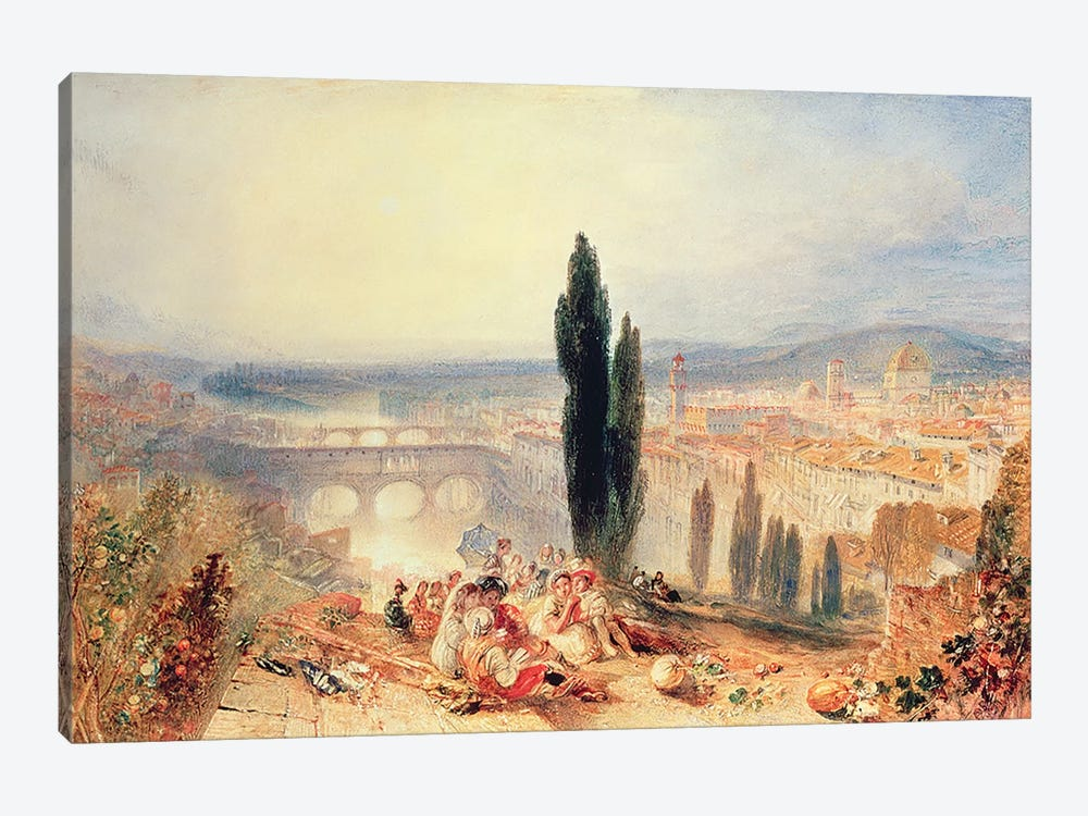 Florence from near San Miniato, 1828 by J.M.W. Turner 1-piece Canvas Art