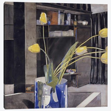 Yellow Tulips, c.1922-23  Canvas Print #BMN5303} by Charles Rennie Mackintosh Canvas Artwork