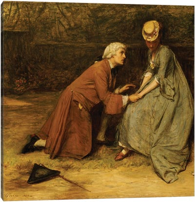 The Proposal, 1869  Canvas Art Print