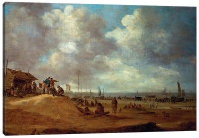 A View of Scheveningen, 1649  Canvas Art Print