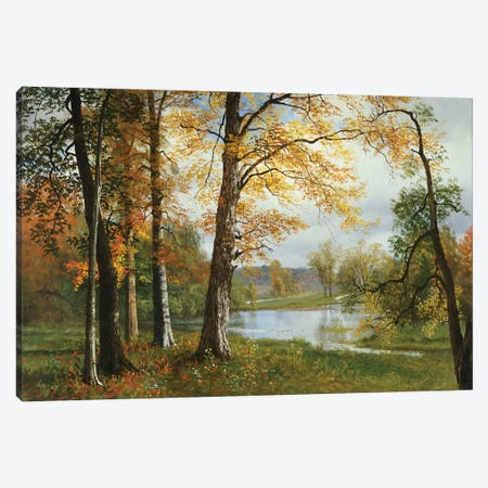 A Quiet Lake  Canvas Print #BMN5311} by Albert Bierstadt Canvas Art Print