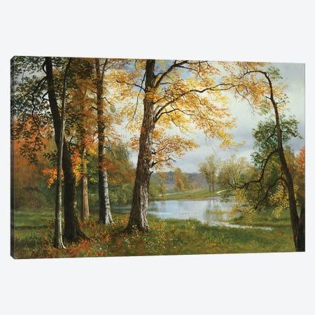 A Quiet Lake  Canvas Print #BMN5311} by Albert Bierstadt Canvas Art Print