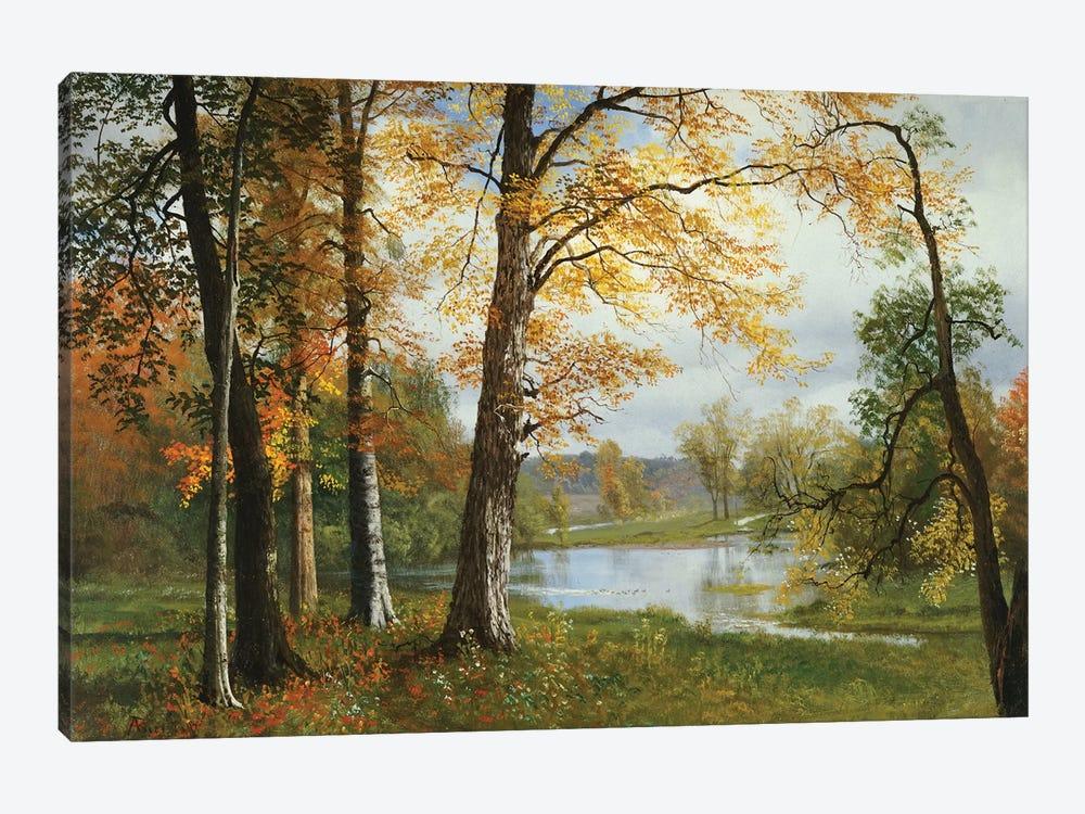 A Quiet Lake  by Albert Bierstadt 1-piece Canvas Art Print