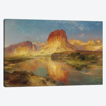 Green River of Wyoming, 1878  Canvas Print #BMN5313} by Thomas Moran Canvas Art Print