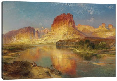 Green River of Wyoming, 1878  Canvas Art Print