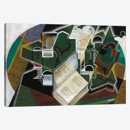 Book, Pipe and Glasses, 1915  Canvas Print #BMN5314} by Juan Gris Canvas Wall Art