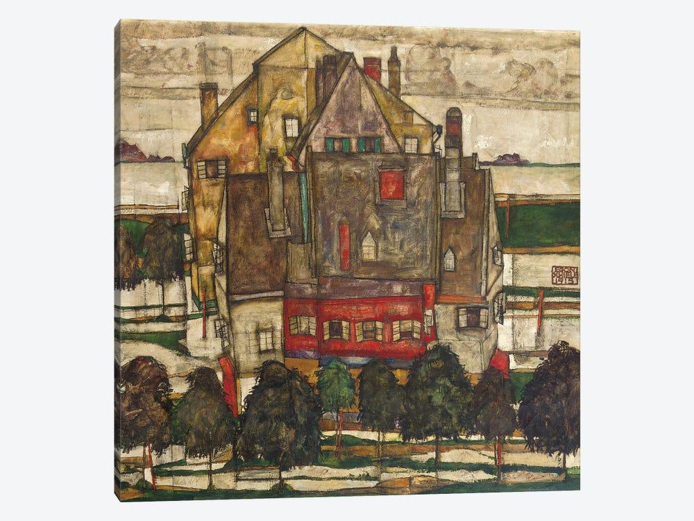 Single Houses  by Egon Schiele 1-piece Art Print
