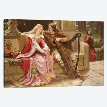 The End of the Song, 1902  Canvas Print #BMN5319} by Edmund Blair Leighton Canvas Print