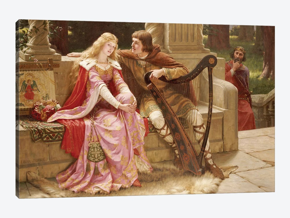 The End of the Song, 1902  by Edmund Blair Leighton 1-piece Canvas Print