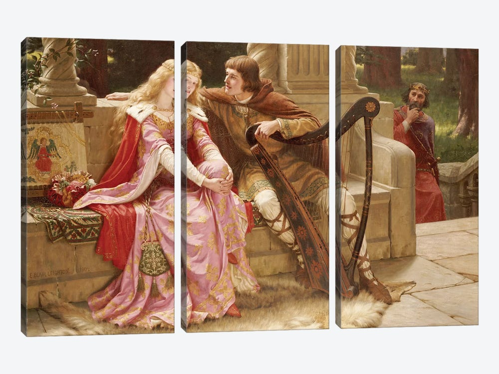 The End of the Song, 1902  by Edmund Blair Leighton 3-piece Art Print