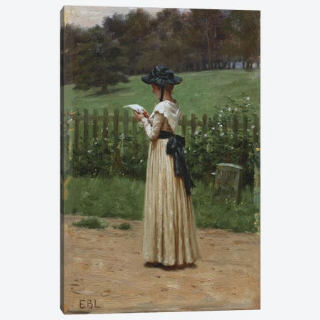 The Love Letter  Canvas Print #BMN5320} by Edmund Blair Leighton Canvas Wall Art