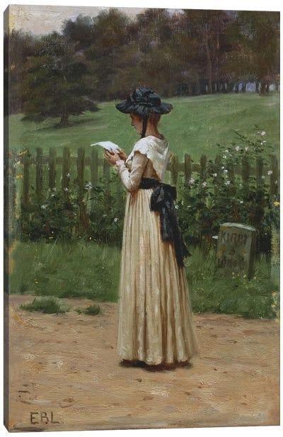 The Love Letter  Canvas Print #BMN5320