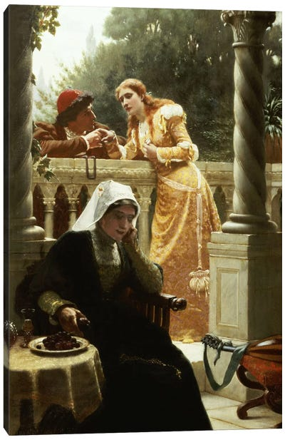 A Stolen Interview, 1888  Canvas Art Print