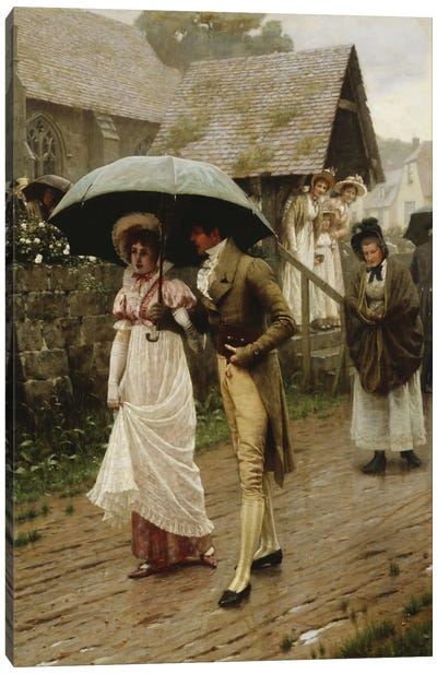 A Wet Sunday Morning, 1896  Canvas Art Print