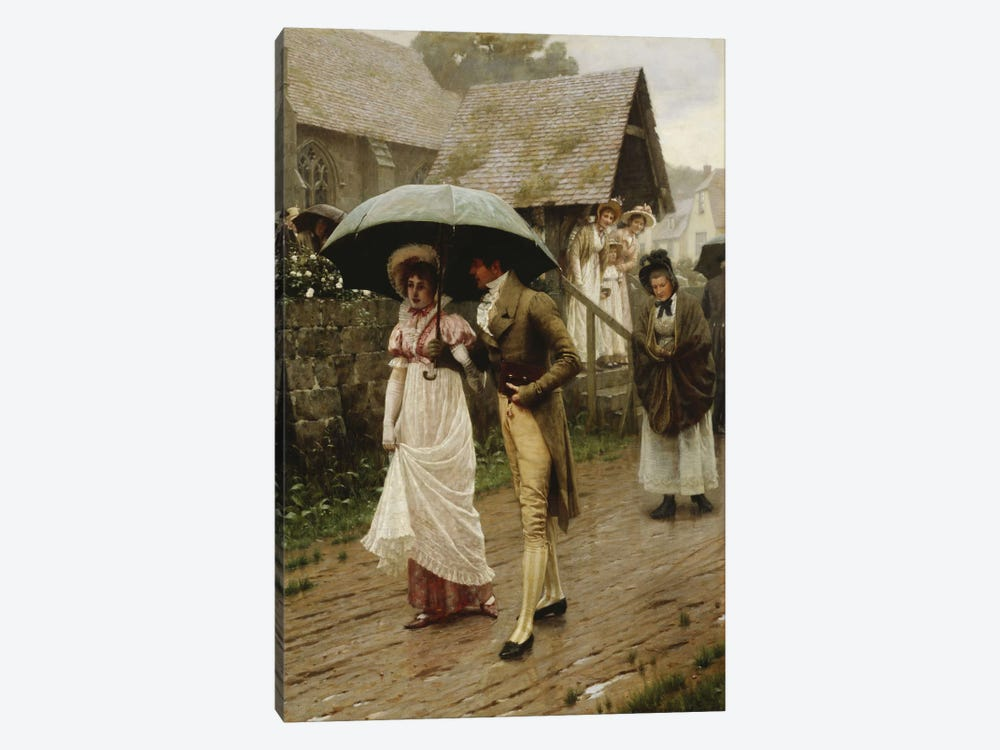 A Wet Sunday Morning, 1896  by Edmund Blair Leighton 1-piece Canvas Art Print