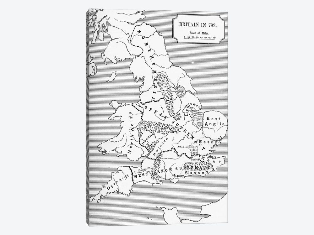 Britain In 792, The Three Kingdoms 685 To 828, A Short History of the English People by English School 1-piece Canvas Wall Art