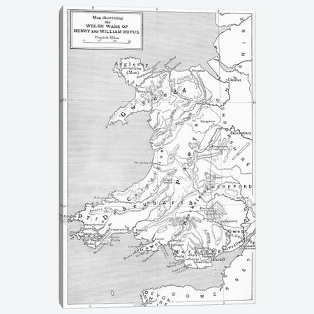 The Welsh Wars Of Henry And William Rufus, A Short History of the English People Canvas Print #BMN5333} by English School Art Print