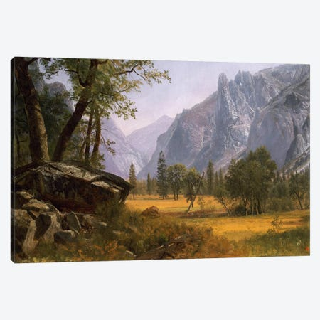 Yosemite Valley  Canvas Print #BMN5339} by Albert Bierstadt Art Print