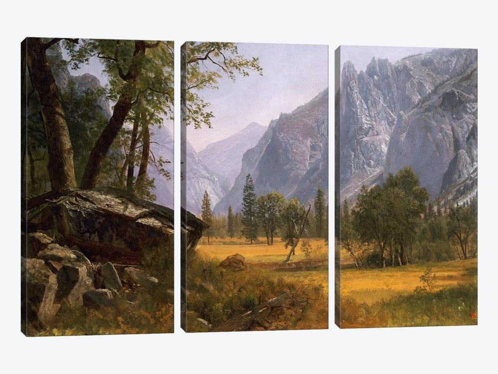 Yosemite Valley  by Albert Bierstadt 3-piece Art Print