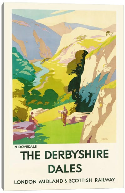 'The Derbyshire Dales', poster advertising London Midland & Scottish Railway  Canvas Art Print