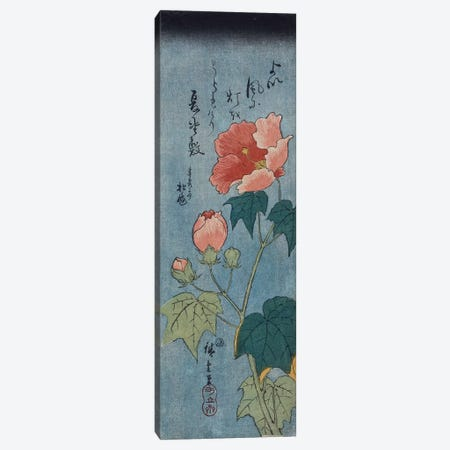Flowering Poppies, Tanzaku  Canvas Print #BMN5343} by Utagawa Hiroshige Canvas Art