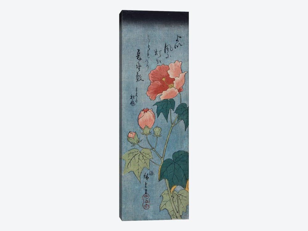 Flowering Poppies, Tanzaku  by Utagawa Hiroshige 1-piece Canvas Art