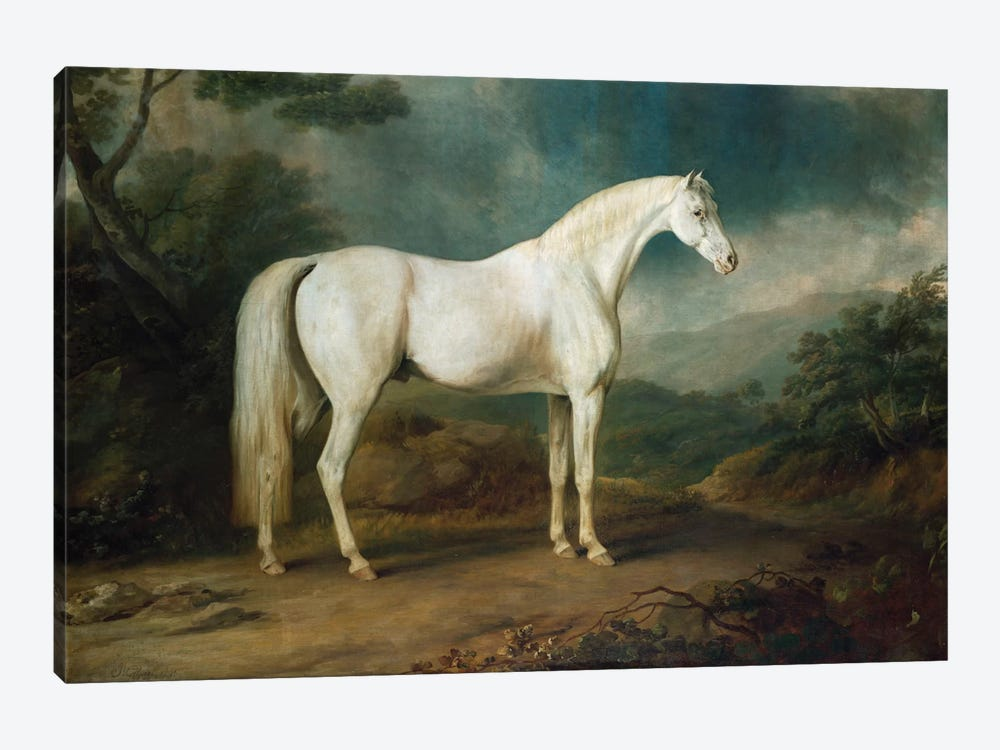 White horse in a wooded landscape, 1791 by Sawrey Gilpin 1-piece Canvas Artwork