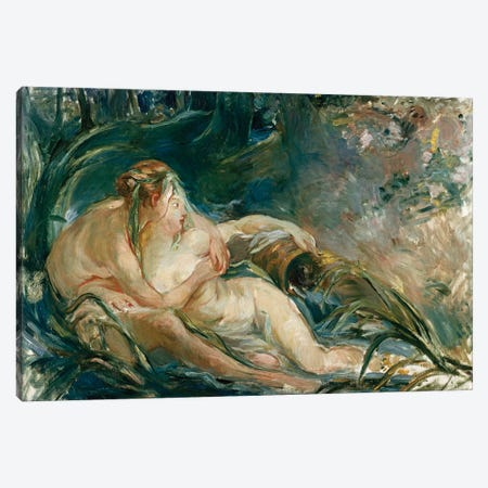 Apollo Appearing To Latone (After Boucher) Canvas Print #BMN5350} by Berthe Morisot Art Print