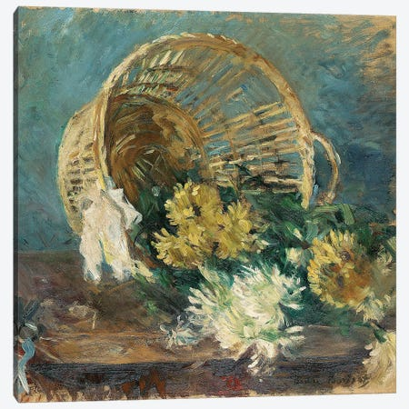 Chrysanthemums (The Overturned Basket), 1885 Canvas Print #BMN5351} by Berthe Morisot Canvas Art Print
