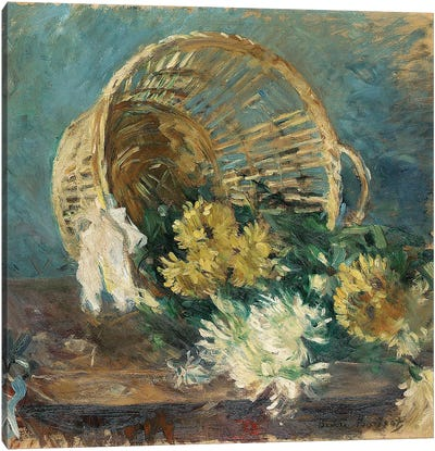 Chrysanthemums (The Overturned Basket), 1885 Canvas Art Print