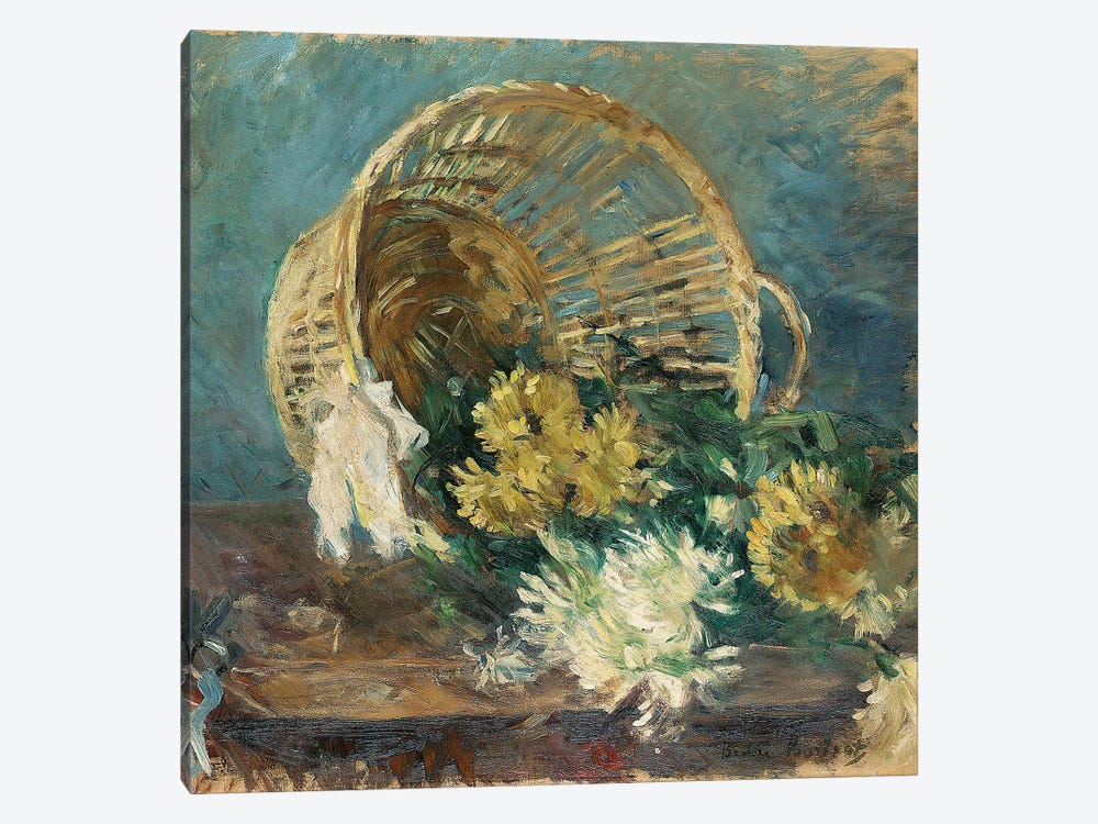 Chrysanthemums (The Overturned Basket), 1885 by Berthe Morisot 1-piece Canvas Print