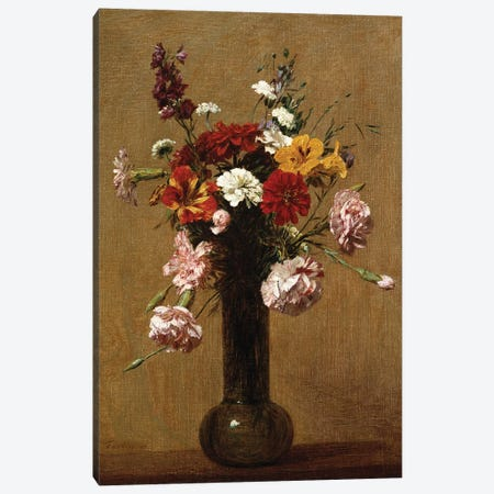 Small Bouquet, 1891  Canvas Print #BMN5355} by Ignace Henri Jean Theodore Fantin-Latour Canvas Artwork