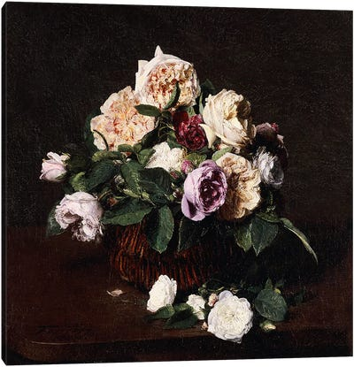 Vase of Flowers, 1876 Canvas Art Print