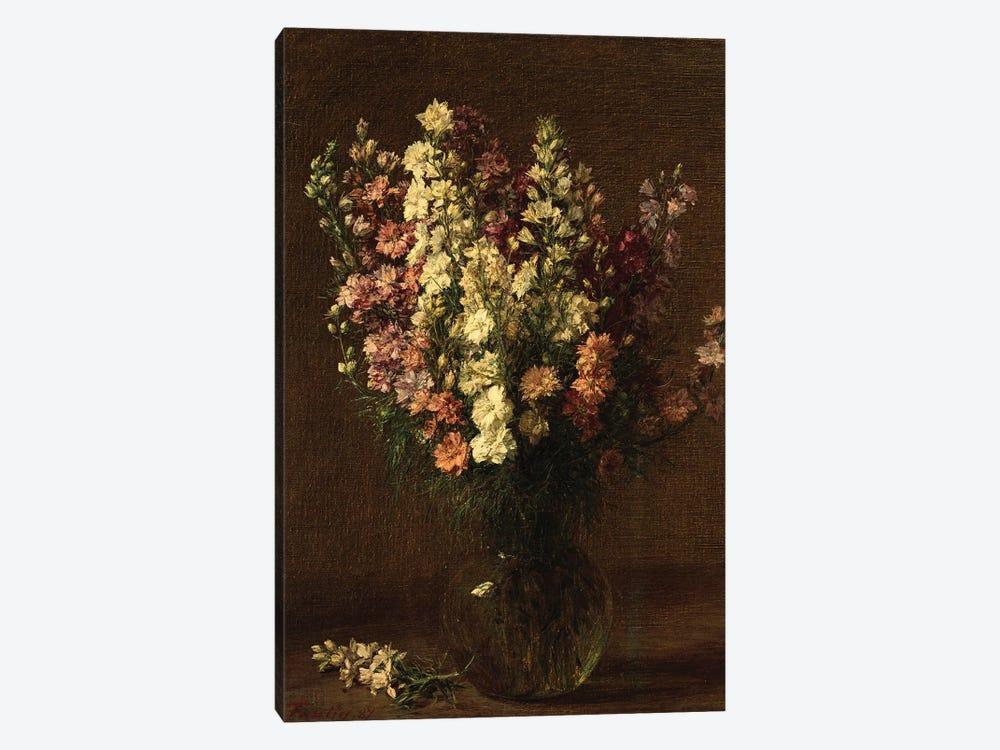 Larkspur, 1887  by Ignace Henri Jean Theodore Fantin-Latour 1-piece Art Print