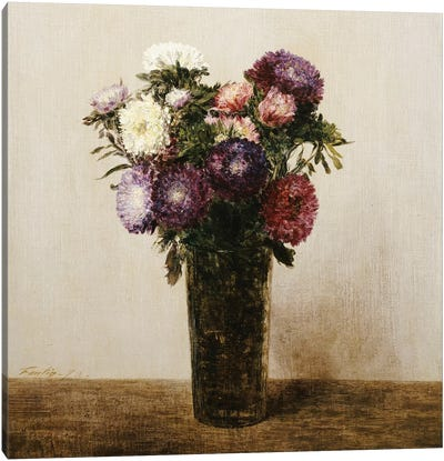 Vase of Flowers, 1872  Canvas Art Print