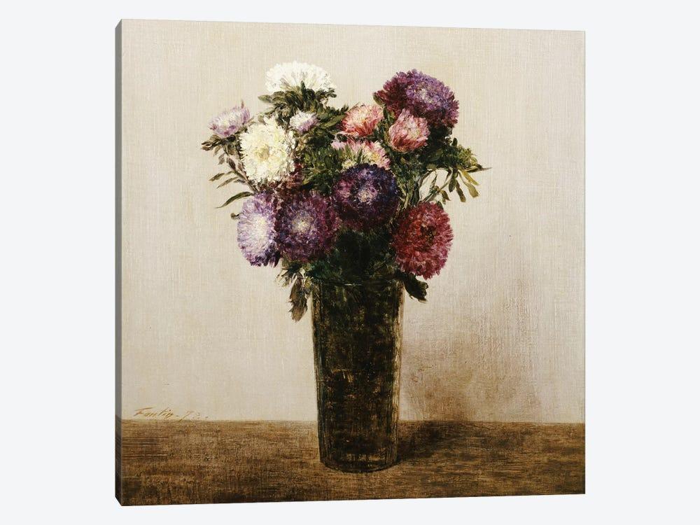 Vase of Flowers, 1872  by Ignace Henri Jean Theodore Fantin-Latour 1-piece Canvas Artwork