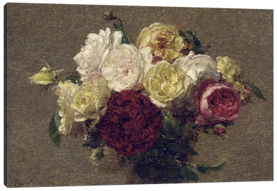 Bouquet of Roses, 1879  Canvas Art Print