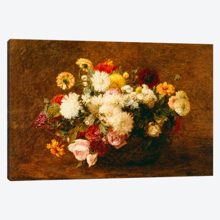 Bouquet of Flowers, 1894  Canvas Print #BMN5362} by Ignace Henri Jean Theodore Fantin-Latour Canvas Wall Art