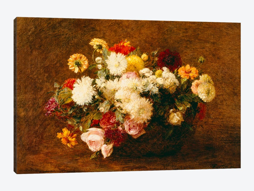 Bouquet of Flowers, 1894 by Ignace Henri Jean Theodore Fantin-Latour 1-piece Art Print