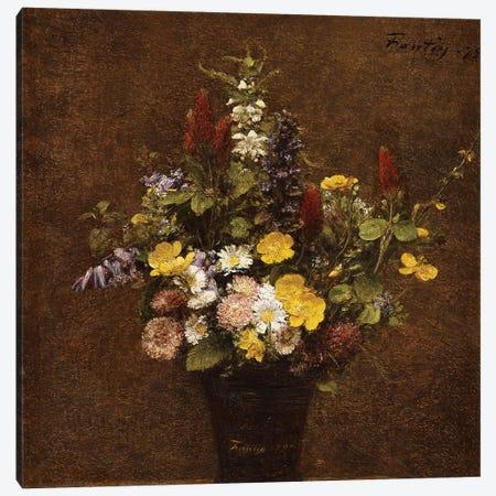 Wild Flowers  Canvas Print #BMN5363} by Ignace Henri Jean Theodore Fantin-Latour Canvas Wall Art