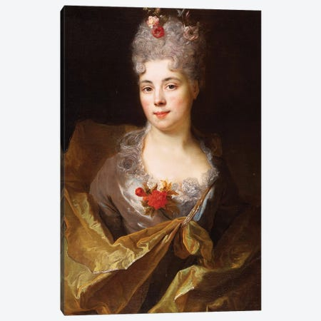 Portrait of a lady  Canvas Print #BMN5365} by Nicolas de Largillière Art Print