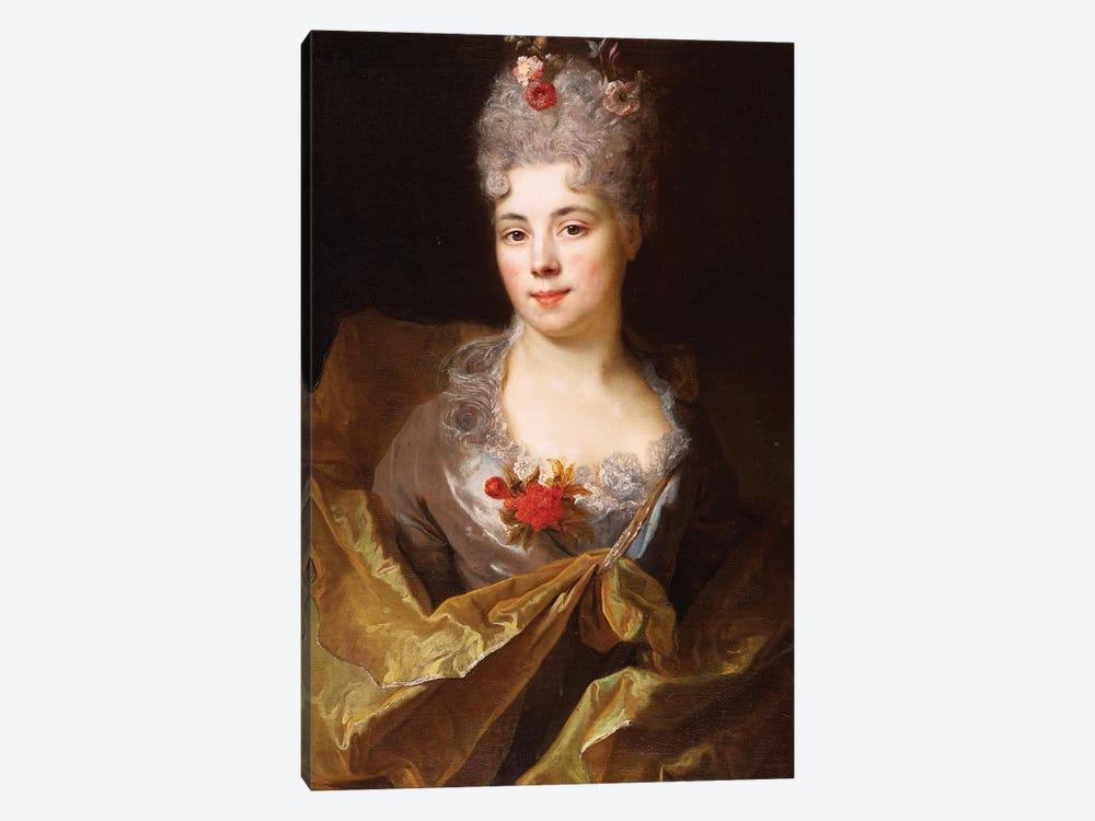 Portrait of a lady  by Nicolas de Largillière 1-piece Canvas Art