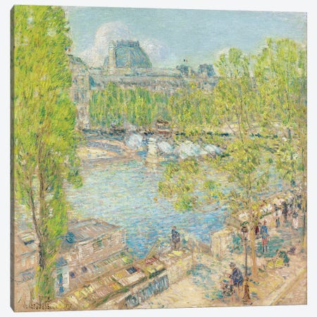 April, Quai Voltaire, Paris, 1897  Canvas Print #BMN5367} by Childe Hassam Art Print