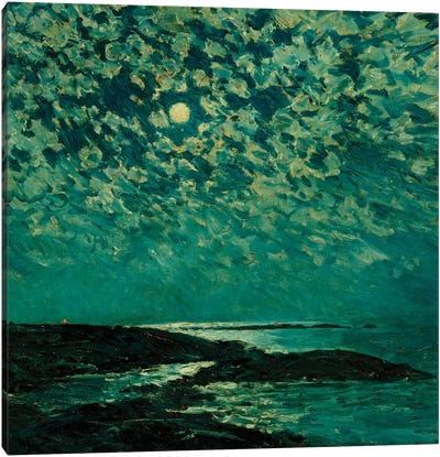 Moonlight, Isle of Shoals, 1892  Canvas Art Print