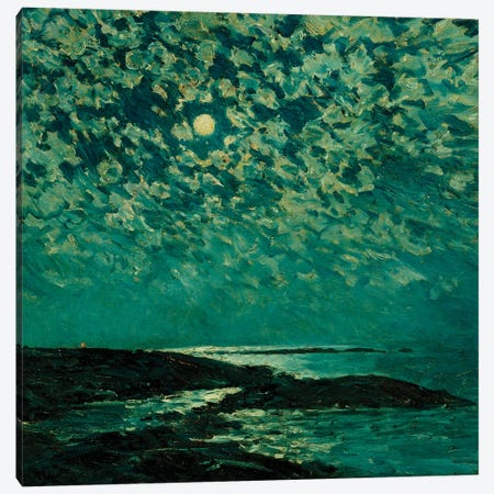 Moonlight, Isle of Shoals, 1892  Canvas Print #BMN5368} by Childe Hassam Canvas Wall Art