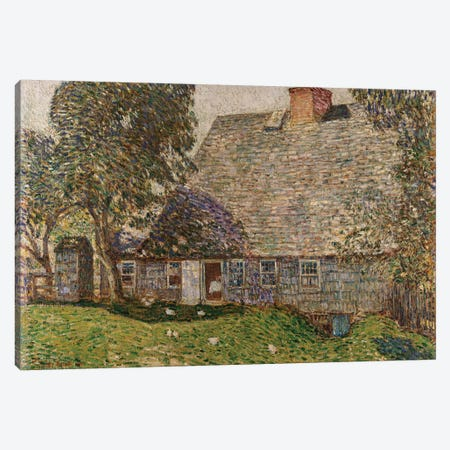 The Old Mulford House, East Hampton, 1917  Canvas Print #BMN5369} by Childe Hassam Canvas Art