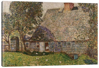 The Old Mulford House, East Hampton, 1917  Canvas Art Print
