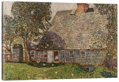 The Old Mulford House, East Hampton, 1917  Canvas Art Print